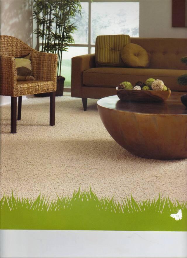 Carpet over ceramic tile